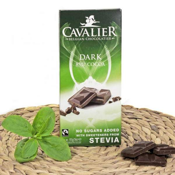 Zartbitter Schokolade mit Stevia