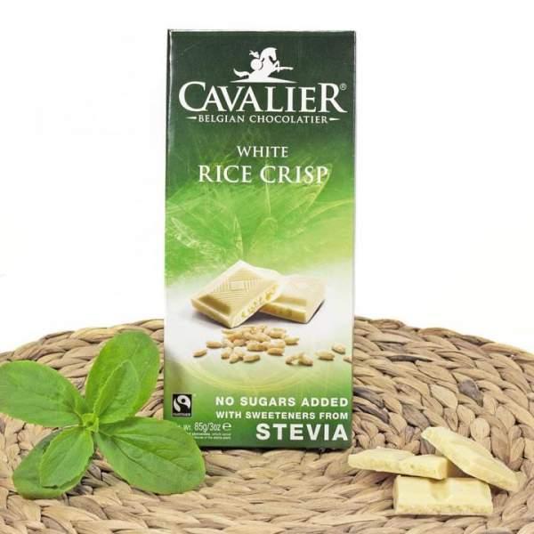 Weiße Schokolade mit Stevia und Rice Crisp