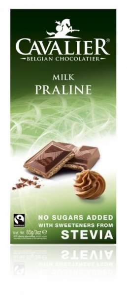 Milchschokolade Stvia mit Haselnusscreme
