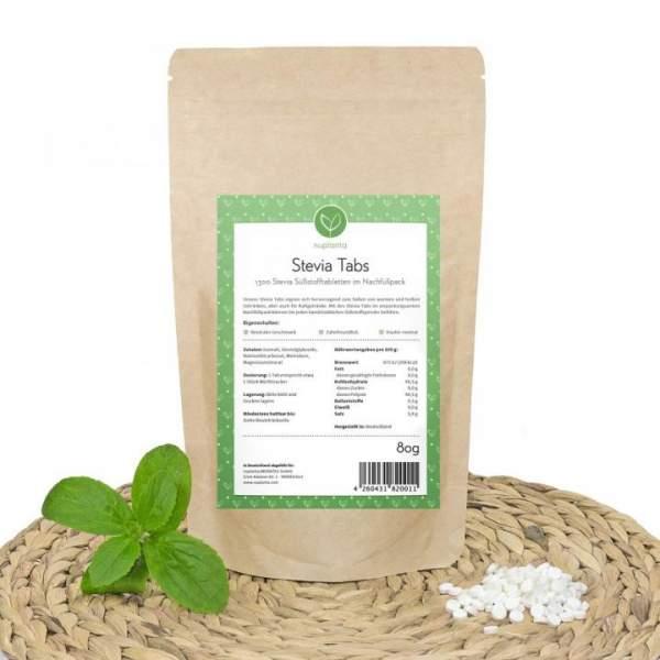 Stevia Tabs im Nachfüllpack, 1000 Tabs + 300 Stück Gratis
