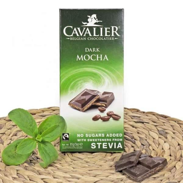 Mokka Zartbitter Schokolade mit Stevia