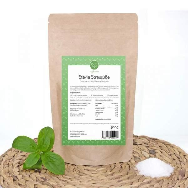 Stevia Streusüße (Granulat) 1:1 Zucker, 500g