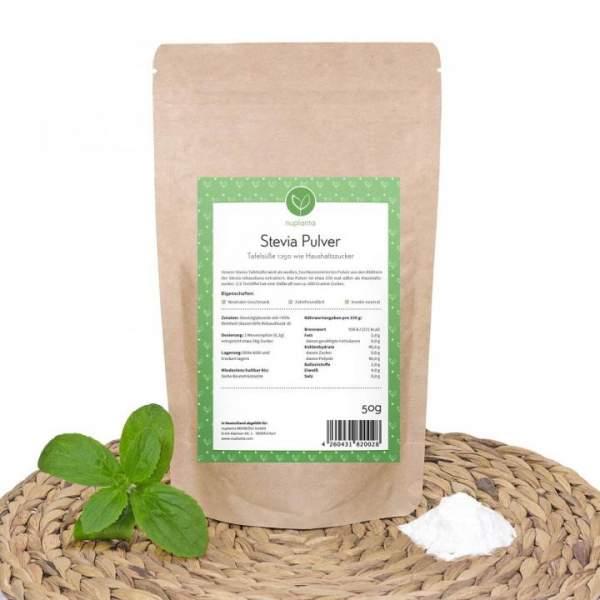 Stevia Steviosid Extrakt, weiß (Pulver) 1:250 Zucker, 50g